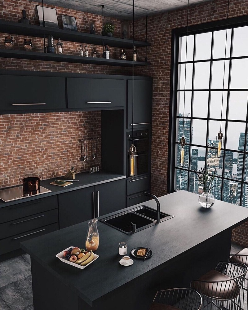 Industrial style kitchens