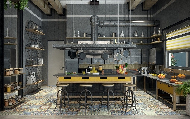 Industrial style kitchens: 5 keys to recreate them