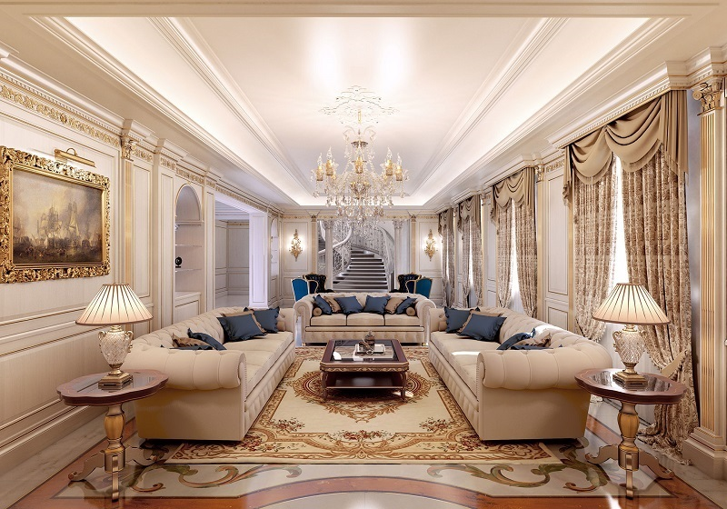 Classic style living room: design and decoration